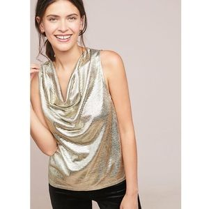 Sunday in Brooklyn Anthro Shine Cowl Neck Top